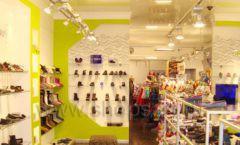 Торговое оборудование СИНИЙ ВЕТЕР детский магазин Винни обувь Рублевское шоссе Фото 06