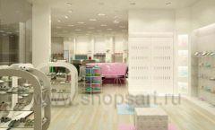 Торговое оборудование отдела обуви магазина Винни ТЦ Dream House Дизайн 1