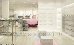 Торговое оборудование отдела обуви магазина Винни ТЦ Dream House Дизайн 4