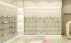 Торговое оборудование отдела обуви магазина Винни ТЦ Dream House Дизайн 6