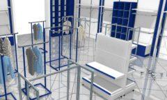Торговое оборудование РАДУГА для детского магазина Перемена Дизайн 05