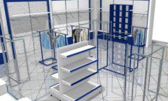 Торговое оборудование РАДУГА для детского магазина Перемена Дизайн 08