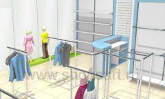 Торговое оборудование WHITE STAR для детского магазина Ивбэби Дизайн 1