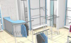 Торговое оборудование WHITE STAR для детского магазина Ивбэби Дизайн 2