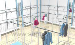 Торговое оборудование WHITE STAR для детского магазина Ивбэби Дизайн 3