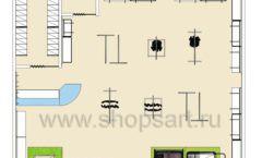 Торговое оборудование WHITE STAR для детского магазина Ивбэби Дизайн 5