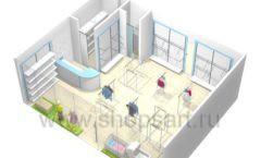 Торговое оборудование WHITE STAR для детского магазина Ивбэби Дизайн 6