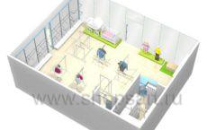 Торговое оборудование WHITE STAR для детского магазина Ивбэби Дизайн 8