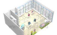 Торговое оборудование WHITE STAR для детского магазина Ивбэби Дизайн 9