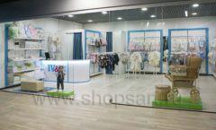 Торговое оборудование WHITE STAR для детского магазина Ивбэби ТЦ Улей Фото 01