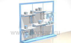 Стеллаж торговый для одежды блок торговое оборудование РАДУГА