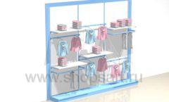 Стеллаж пристенный для одежды блок торговое оборудование РАДУГА