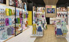Торговое оборудование РАДУГА для детского магазина OLDOS KIDS Дизайн 3