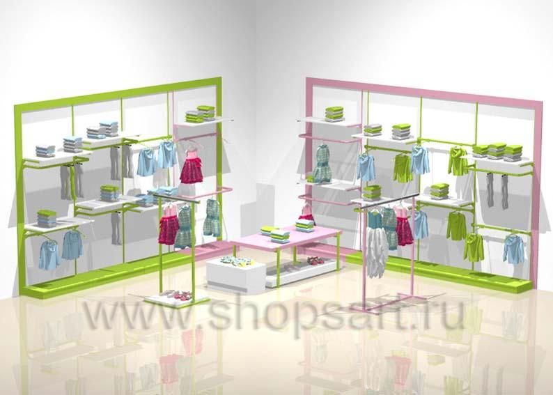 Торговое оборудование РАДУГА для детских магазинов