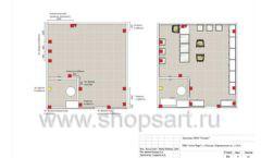 Дизайн проект ювелирного магазина Золотой имидж ТЦ Авиапарк торговое оборудование СОВРЕМЕННЫЙ СТИЛЬ Лист 09