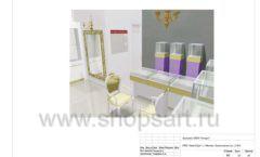 Дизайн проект ювелирного магазина Золотой имидж ТЦ Авиапарк торговое оборудование СОВРЕМЕННЫЙ СТИЛЬ Лист 15