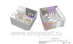 Дизайн проект ювелирного магазина Золотой имидж ТЦ Авиапарк торговое оборудование СОВРЕМЕННЫЙ СТИЛЬ Лист 17