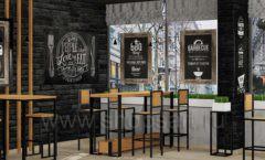 Дизайн интерьера для кафе баров ресторанов мебель ЛОФТ Дизайн 08