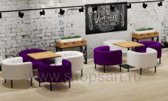 Дизайн интерьера для кафе баров ресторанов мебель ЛОФТ Дизайн 21