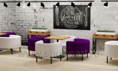 Дизайн интерьера для кафе баров ресторанов мебель ЛОФТ Дизайн 22