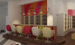Дизайн интерьера бара в винотеки Дизайн 01