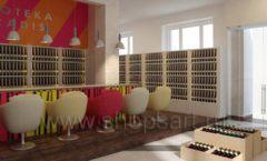 Дизайн интерьера бара в винотеки Дизайн 02