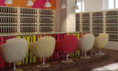 Дизайн интерьера бара в винотеки Дизайн 03