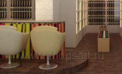 Дизайн интерьера бара в винотеки Дизайн 06