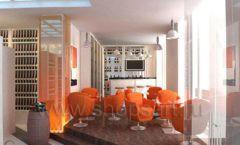 Дизайн интерьера кафе в винотеки Дизайн 1