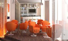 Дизайн интерьера кафе в винотеки Дизайн 2