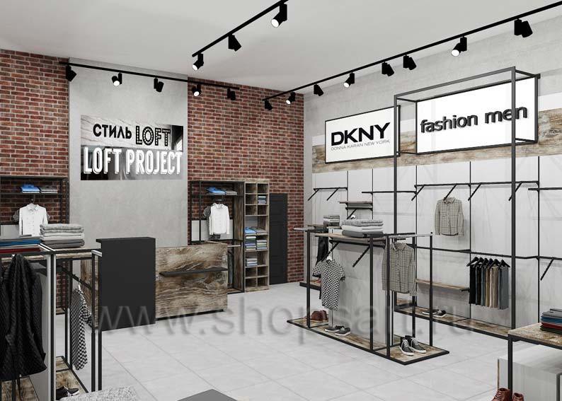 cb6f83afac0a2 Торговое оборудование для магазинов одежды коллекции ЛОФТ | ShopsArt.ru