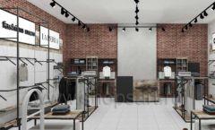 Дизайн интерьера магазина одежды коллекция ЛОФТ Дизайн 02