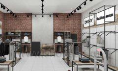 Дизайн интерьера магазина одежды коллекция ЛОФТ Дизайн 03