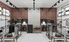 Дизайн интерьера магазина одежды коллекция ЛОФТ Дизайн 04