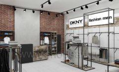 Дизайн интерьера магазина одежды коллекция ЛОФТ Дизайн 06