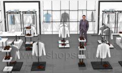 Дизайн интерьера магазина одежды Rus Fashion Park коллекция BLACK STAR Дизайн 01