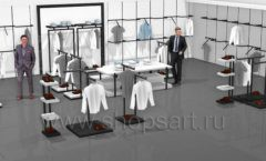 Дизайн интерьера магазина одежды Rus Fashion Park коллекция BLACK STAR Дизайн 02