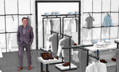 Дизайн интерьера магазина одежды Rus Fashion Park коллекция BLACK STAR Дизайн 03