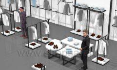 Дизайн интерьера магазина одежды Rus Fashion Park коллекция BLACK STAR Дизайн 04