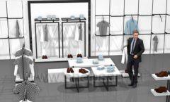 Дизайн интерьера магазина одежды Rus Fashion Park коллекция BLACK STAR Дизайн 05