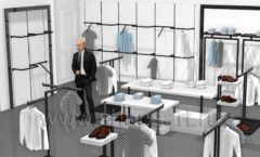 Дизайн интерьера магазина одежды Rus Fashion Park коллекция BLACK STAR Дизайн 06