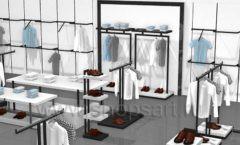 Дизайн интерьера магазина одежды Rus Fashion Park коллекция BLACK STAR Дизайн 07