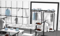 Дизайн интерьера магазина одежды Rus Fashion Park коллекция BLACK STAR Дизайн 08