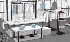Дизайн интерьера магазина одежды Rus Fashion Park коллекция BLACK STAR Дизайн 09