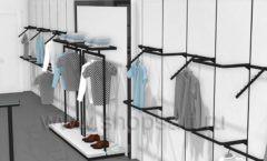 Дизайн интерьера магазина одежды Rus Fashion Park коллекция BLACK STAR Дизайн 11