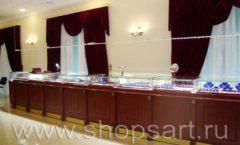 Торговое оборудование для ювелирного магазина Октябрь Большой зал Фото 02