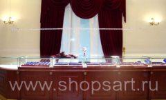 Торговое оборудование для ювелирного магазина Октябрь Большой зал Фото 03