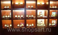 Фотографии торгового оборудования ювелирного магазина Октябрь Зал часов Фото 44