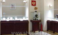 Торговое оборудование для ювелирного магазина Октябрь Большой зал КОРИЧНЕВАЯ КЛАССИКА Фото 14