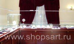 Торговое оборудование для ювелирного магазина Октябрь VIP зал КОРИЧНЕВАЯ КЛАССИКА Фото 20